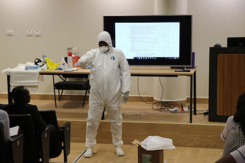 UGMC Staff receive training on Corona virus
