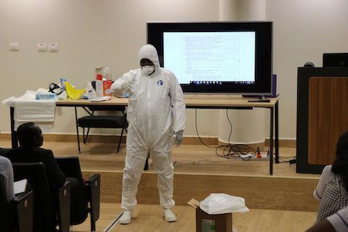 UGMC Staff receive training on Corona virus